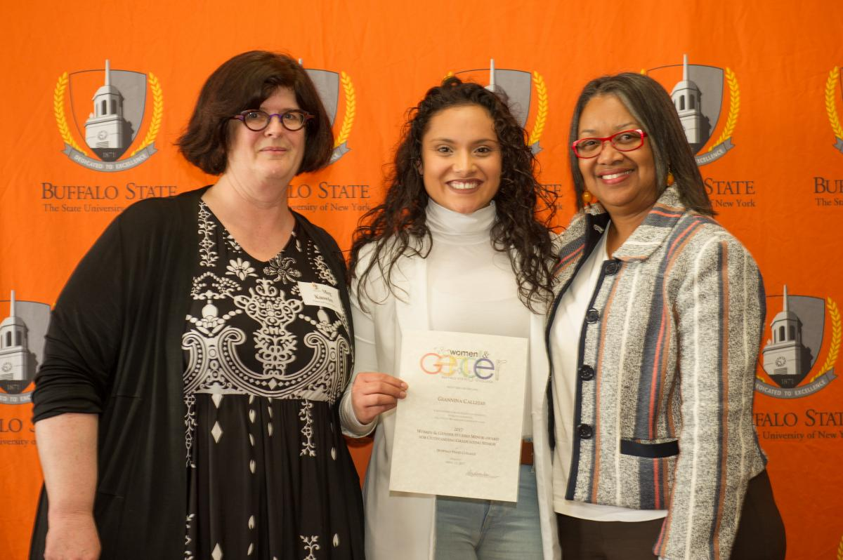 Coordinator Meg Knowles and President honor student at ECD reception
