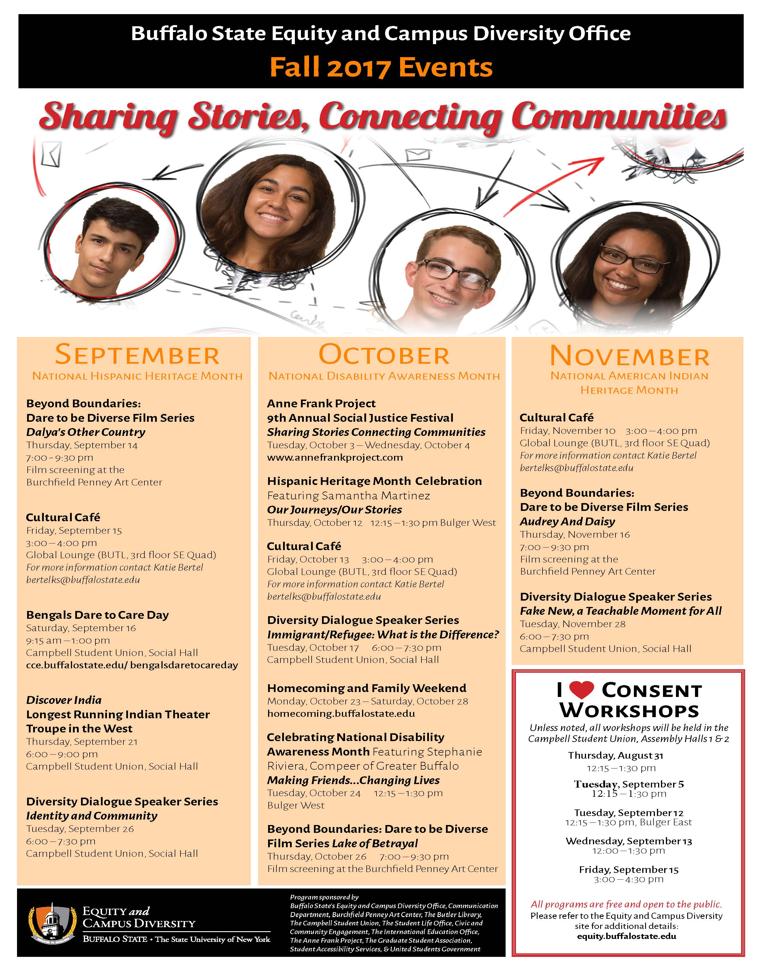 Upcoming Events | Equity and Diversity | Buffalo State College