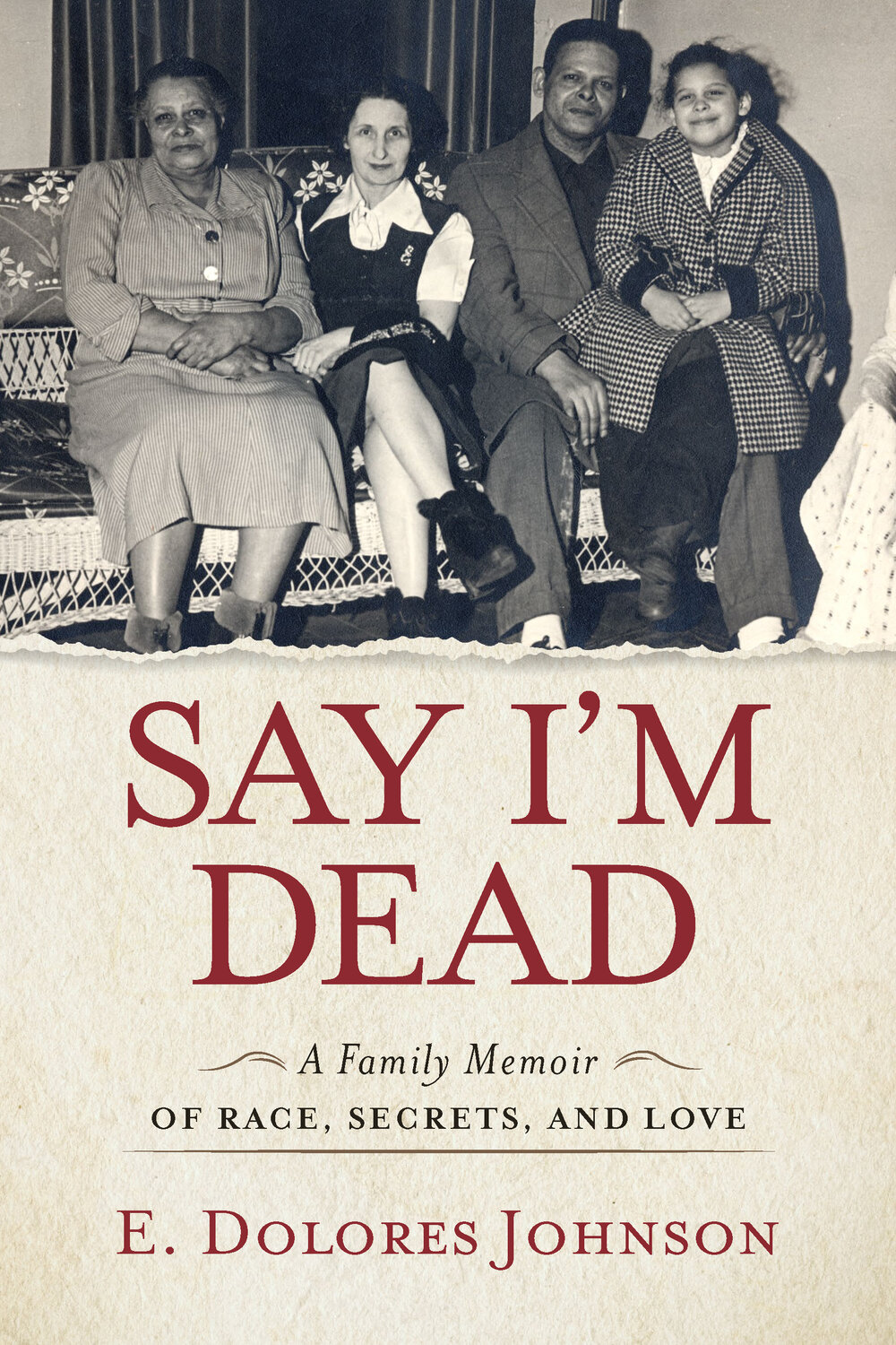 """Say I'm Dead"" Book Cover"